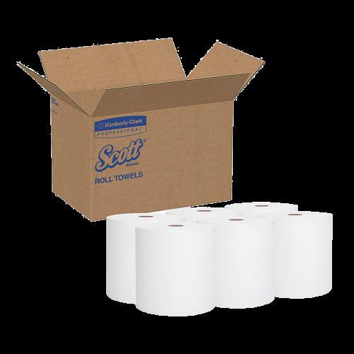 Kimberly Clark KC-02000 White Paper Towel Roll, 6 rolls in 1 case