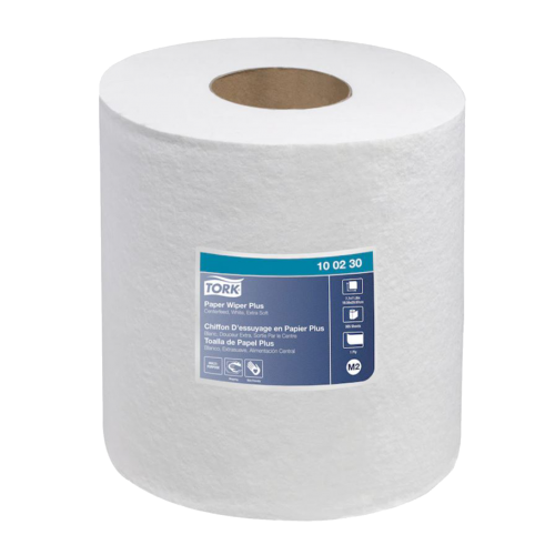 Tork 100230 Centerfeed C-pull White paper towel 350 ft x 5 rolls in a case