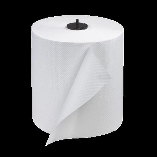 Tork 290089 White Paper Towel Roll, 6 rolls in 1 case